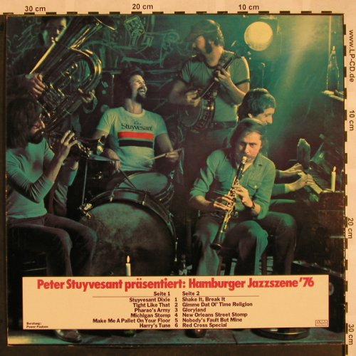 V.A.Hamburger Jazzszene'76: 12 Tr. Pres.by Peter Stuyvesant, Clear Sound(ST-76), D (Dixie),  - LP - X1001 - 5,00 Euro