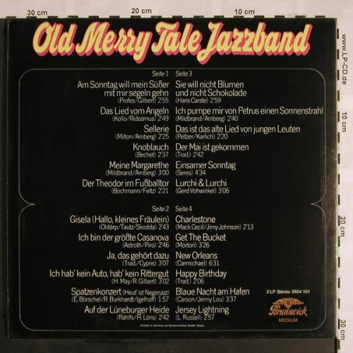 Old Merry Tale Jazzband: Same '63, Ri, Foc, Brunswick Medium(2654 101), D,  - 2LP - X1111 - 9,00 Euro
