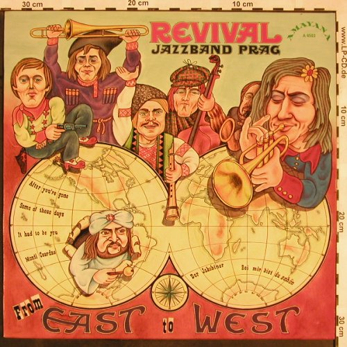 Revival Jazzband Prag: From East to West, Amayana, A 4503(66.21152), D, 1974 - LP - X1235 - 9,00 Euro