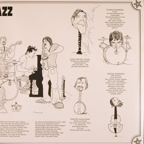 Hübner,Abbi & Lowdown Wizards: City Jazz, Foc, 5 x signiert, Telefunken(6.28079 DP), D, 1974 - 2LP - X233 - 20,00 Euro