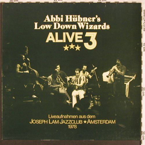Hübner's Low Down Wizards: Alive3,Joseph Lam Jazzclub,Amsterd., PF(Pf 086), D,29 April, 1978 - LP - X3496 - 7,50 Euro