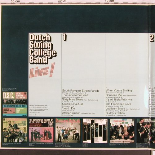 Dutch Swing College Band: DSC Live!-feat.Neva Raphaello,Foc, Philips(6614 024), NL,1955/58, 1970 - 2LP - X3750 - 7,50 Euro