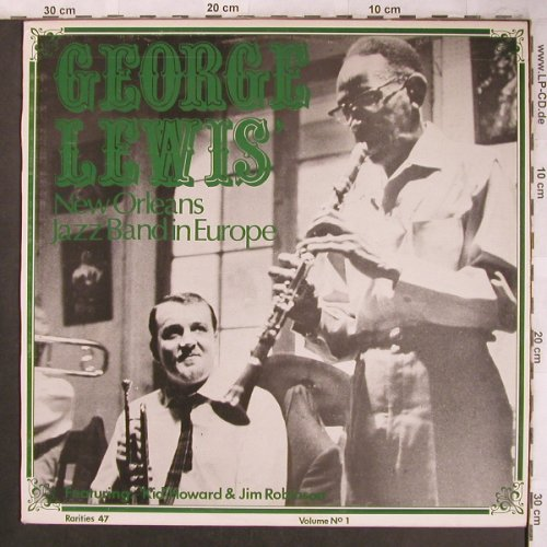 Lewis,George: New Orleans Jazz Band in Europe, Rarities(47), DK,  - LP - X4637 - 5,00 Euro