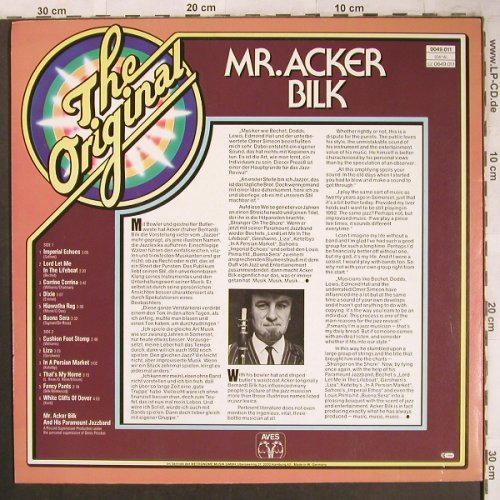 Acker Bilk: The Original,and his Paramount J.B., Aves(0049.011), D, Ri,  - LP - X4659 - 5,00 Euro