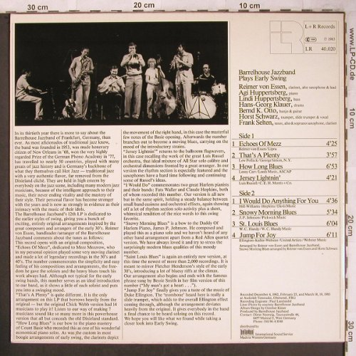 Barrelhouse Jazzband: Plays Early Swing, LR(40.020), D, 1983 - LP - X4673 - 5,00 Euro