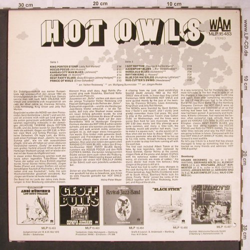 "Hot Owls ""Hamburg"": Same, WAM(MLP 15 483), D,  - LP - X4731 - 7,50 Euro"