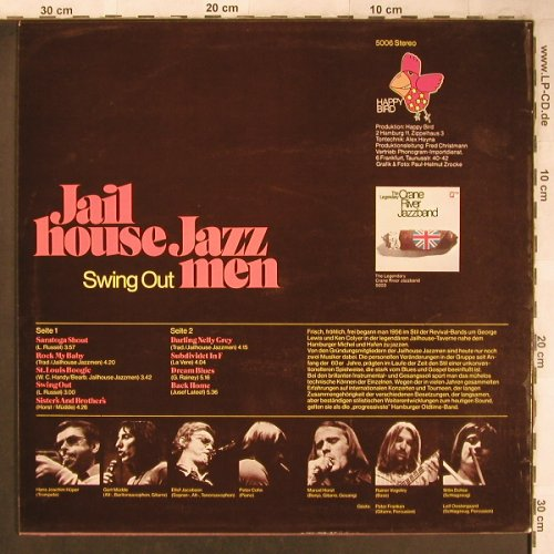 Jailhouse Jazzmen: Swing Out, vg+/m-, Happy Bird(5006), D,  - LP - X4787 - 5,00 Euro