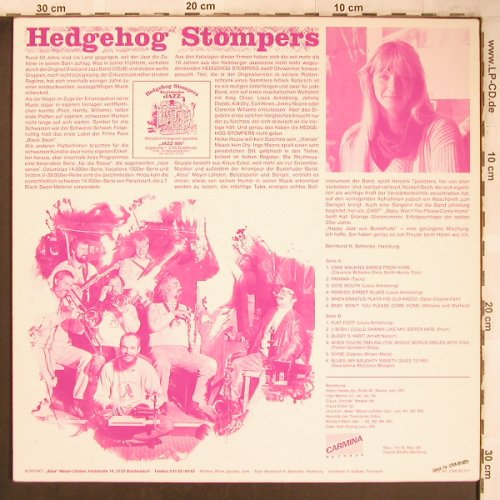 Hedgehog Stompers Buxtehude: Same, Carmina Records(CRA 81126), D, 1986 - LP - X4813 - 8,00 Euro