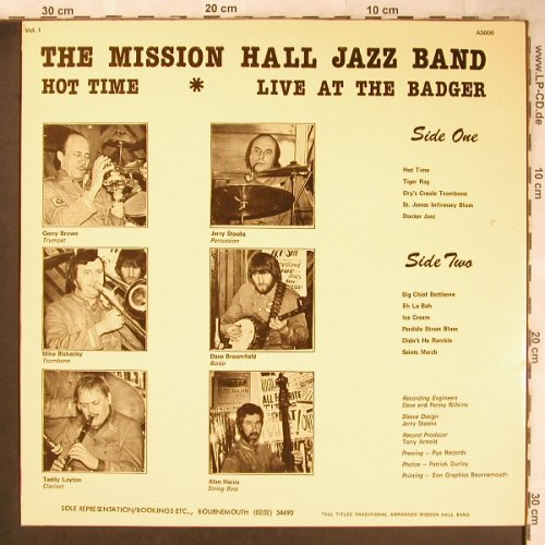 Mission Hall Jazz Band: Hot Time, Arny's Shack Records(AS 006), UK, 1977 - LP - X4855 - 7,50 Euro