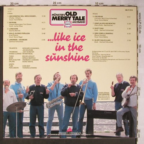 Old Merry Tale Jazzband: ...like Ice In The Sunshine, Pinorrekk, Langnese(HB-P-7014), D, 1987 - LP - X5518 - 6,00 Euro
