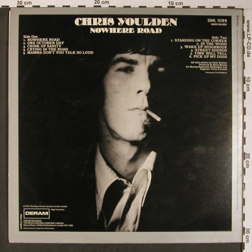 Youlden,Chris: Nowhere Road, Deram(SML 1099), UK, 1973 - LP - X5969 - 75,00 Euro