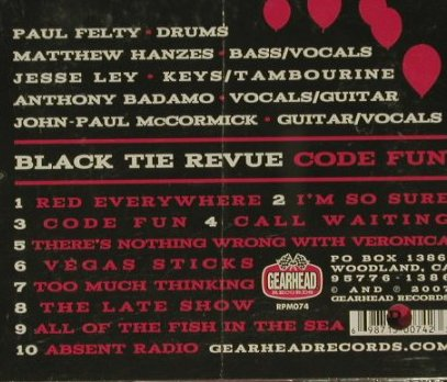 Black Tie Revue: Code Fun, co, Gearhead Rec.(RPM074), US, 2005 - CD - 50461 - 5,00 Euro