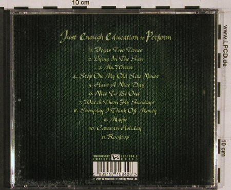 Stereophonics: Just Enough Education To Perform, V2(), EU, 2001 - CD - 51182 - 10,00 Euro