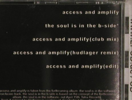 Icon Of Coil: Access And Amplify *4+1, Tatra(), D, 2002 - CD5inch - 51786 - 4,00 Euro