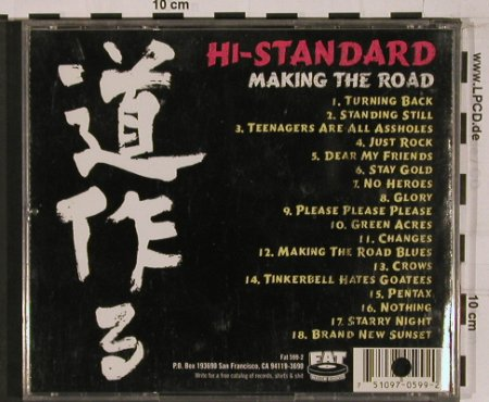 Hi-Standard: Making The Road, co, Fat Wreck Chords(Fat 599-2), US, 1999 - CD - 52901 - 5,00 Euro