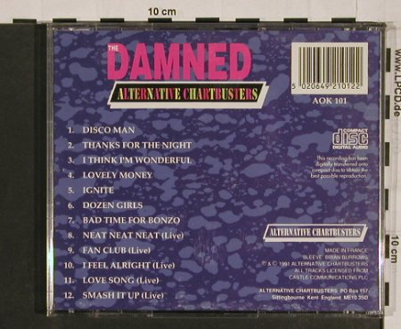 Damned,The: Alternative Chartbusters, vg+/m-, AOK 101(AOK 101), , 91 - CD - 53557 - 10,00 Euro