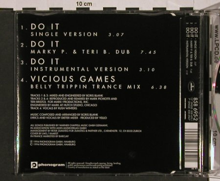 Yello: Do It*3+1, Mercury(858 695-2), D, 94 - CD5inch - 54641 - 5,00 Euro