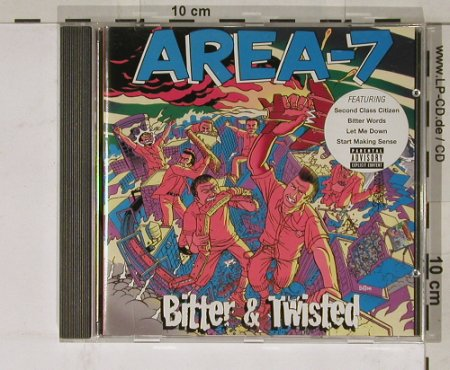 Area-7: Bitter & Twisted, Zomba(), EU, 00 - CD - 55103 - 7,50 Euro