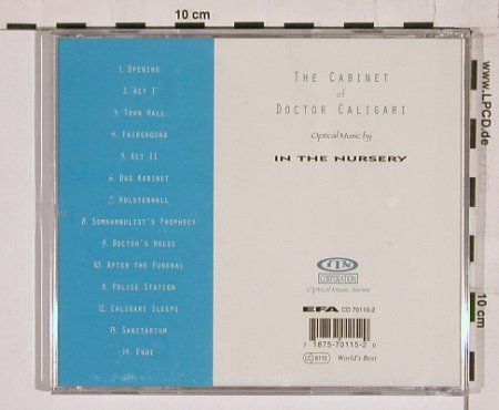 In The Nursery: The Cabinet of Doctor Caligari, ITN(corp 015), ,  - CD - 55237 - 10,00 Euro