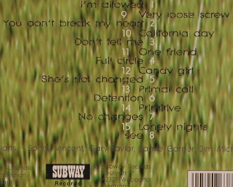 Shotgun Rationale(Sonny Vincent's): Cocked, Subway(), D,Promo,  - CD - 56222 - 12,50 Euro