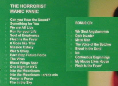 Horrorist,The: Manic Panic, Out Of Line(087-123412), D, 2004 - 2CD - 57354 - 11,50 Euro