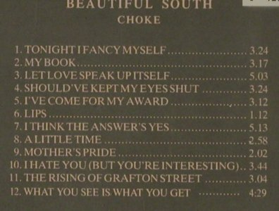 Beautiful South: Choke, GO!(), D, 1990 - CD - 58337 - 5,00 Euro