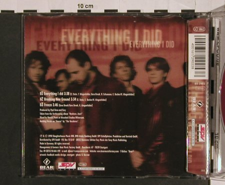 Fury In The Slaughterhouse: Everything I Did+2, SPV(055-29053), D, 1998 - CD5inch - 58831 - 3,00 Euro