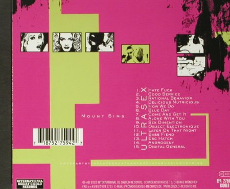 Mount Sims: Ultra Sex, Digi, Gigolo Rec.(94/EFA), D, 2002 - CD - 59297 - 10,00 Euro