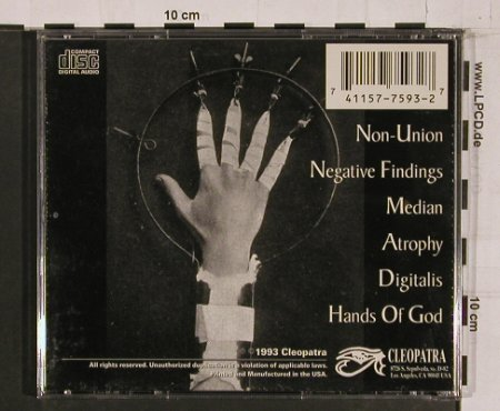 Premature Ejaculation: Necessary Discomfort, Cleopatra(), US, 93 - CD - 60654 - 12,50 Euro