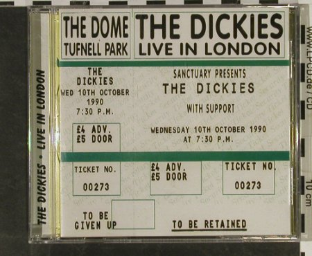 Dickies: Live in London(91), Sanctuary(CMRCD 489), UK, 2002 - CD - 61618 - 10,00 Euro