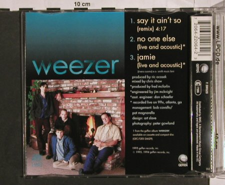 Weezer: Say It An't So+2, Geffen(22064), EEC, 1995 - CD5inch - 63273 - 4,00 Euro