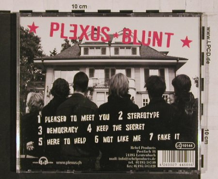 Plexus: Blunt, 7Tr., Rebel Products(JAG-M 009), , 2005 - CD - 64146 - 7,50 Euro