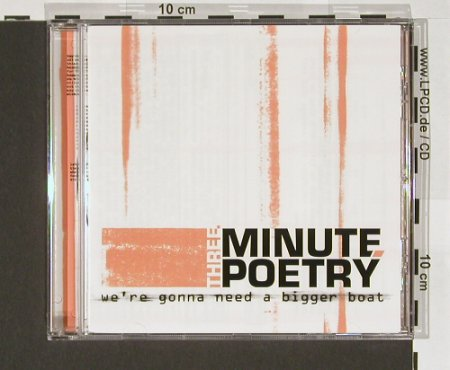 Three Minute Poetry: We're Gonna Need A Bigger Boat, Pirate(), EU, 04 - CD - 65261 - 7,50 Euro