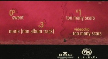 Pinkostar: Too Many Scars*3+video, BMG(), EU, 03 - CD5inch - 65373 - 2,50 Euro