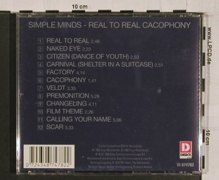 Simple Minds: Real To Real Cacophony(82), Disky(VI 84782), NL, 96 - CD - 65381 - 7,50 Euro