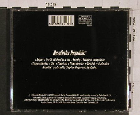 New Order: Republic, Centredate(), UK, 1993 - CD - 65715 - 7,50 Euro