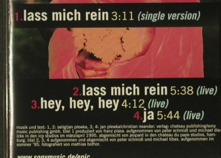 Selig: Lass Mich rein*2+2 live, Epic(), A, 95 - CD5inch - 66913 - 3,00 Euro