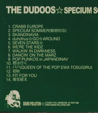 Dodoos, the: Specium Sommer, Sound Pollution(Pollute 073), US,  - CD - 67475 - 5,00 Euro