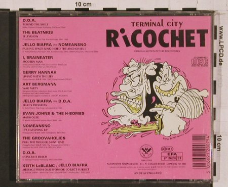 V.A.Terminal City Ricochet: Soundtrack, 12 Tr., Alternative Tentacle(), UK,  - CD - 67510 - 10,00 Euro