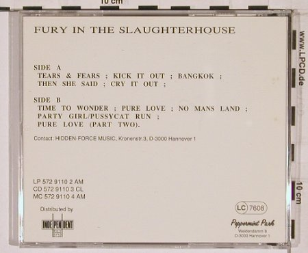 Fury In The Slaughterhouse: Same, Peppermint Park Records(spv 84-5502), D,  - CD - 68523 - 10,00 Euro