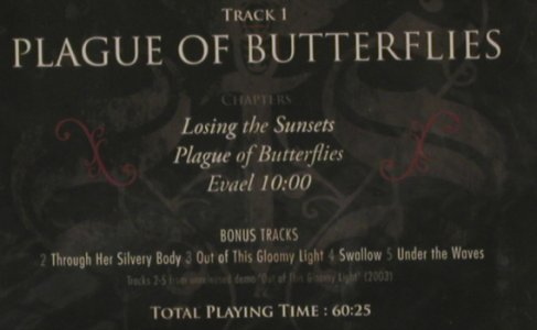 Swallow The Sun: Plague of Butterflies,EP, FS-New, Spinefarm Rec.(), EU, 2008 - CD - 80122 - 10,00 Euro