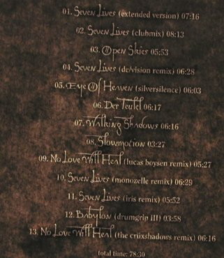 In Strict Confidence: Seven Lives, Digi, Minuswelt(), D, 04 - CD - 80284 - 10,00 Euro