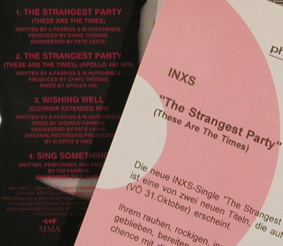 Inxs: The Strangest Party*2+2, Facts, Mercury(), D, 94 - CD5inch - 80285 - 5,00 Euro