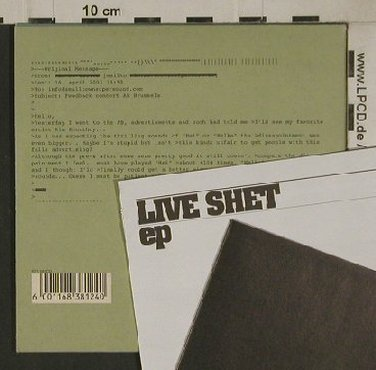 Hiorthøy,Kim: Live Shet EP, Digi, Smalltown Supersound(STS081CD), , 2004 - CD - 80534 - 7,50 Euro