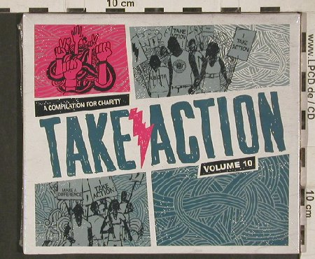 V.A.Take Action Volume 10: Shane Told(ofSilverstein)..FakeProb, Subcity Rec.(SC041-2), US,FS-New, 2011 - 2CD - 80853 - 7,50 Euro