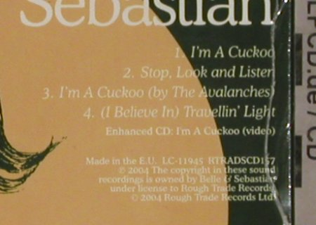 Belle & Sebastian: I'm a Cuckoo*2+2,video,Digi, FS-New, RoughTrade(RTRADSCD157), , 2004 - CD5inch - 81177 - 6,00 Euro