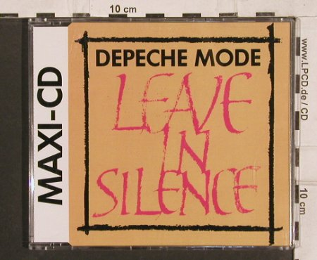 Depeche Mode: Leave in Silence*3+1'82, Mute Bong 1(INT 826.807), D, 1988 - CD5inch - 82118 - 6,00 Euro