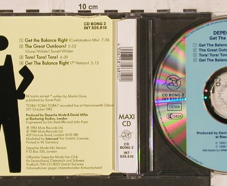 Depeche Mode: Get The Balance Right*2+2, Mute Bong 2(INT 826.810), D, 1988 - CD5inch - 82119 - 7,50 Euro