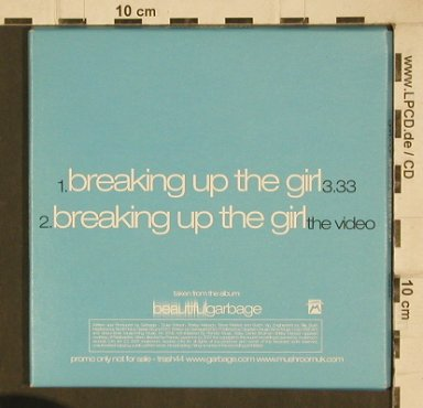 Garbage: Breaking Up The Girl+video,2Tr, Mushroom(Trash44), EU,Promo, 2001 - CD5inch - 90048 - 4,00 Euro
