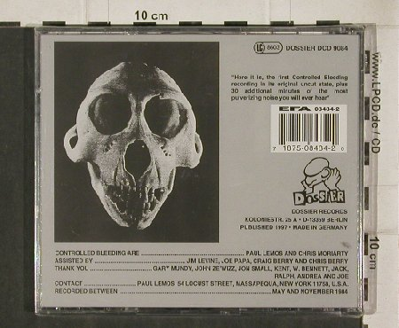 Controlled Bleeding: Knees & Bones, FS-New, Dossier(9084), D, 97 - CD - 90692 - 20,00 Euro
